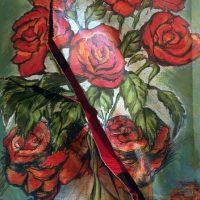 ROSES_BOÎTE/ROSES_BOX (2017). Peinture Julie McInnes